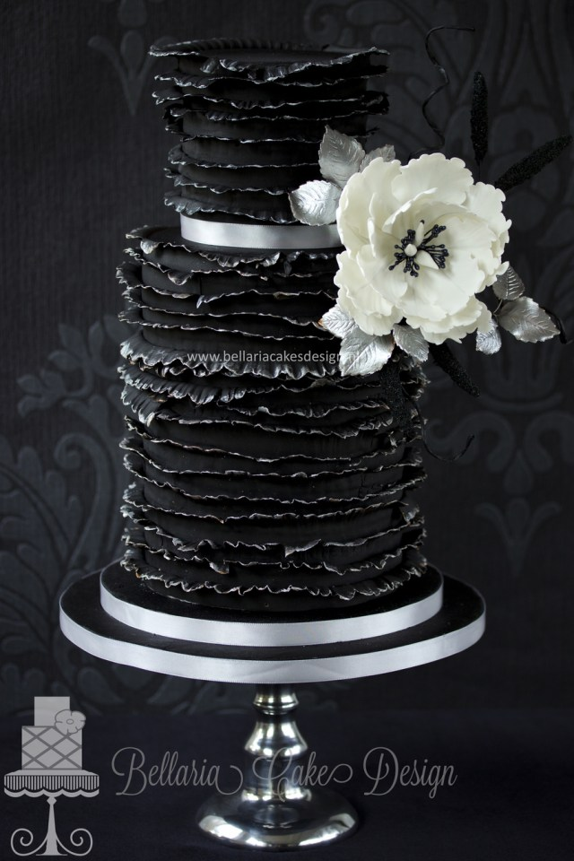 Black Birthday Cake Black Friday Ruffles Birthday Cake Cakecentral