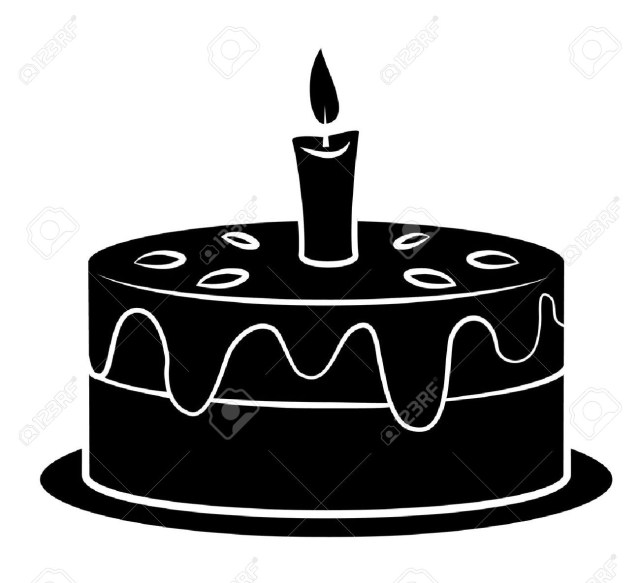 Black Birthday Cake Black Silhoutte Of Birthday Cake Royalty Free Cliparts Vectors And