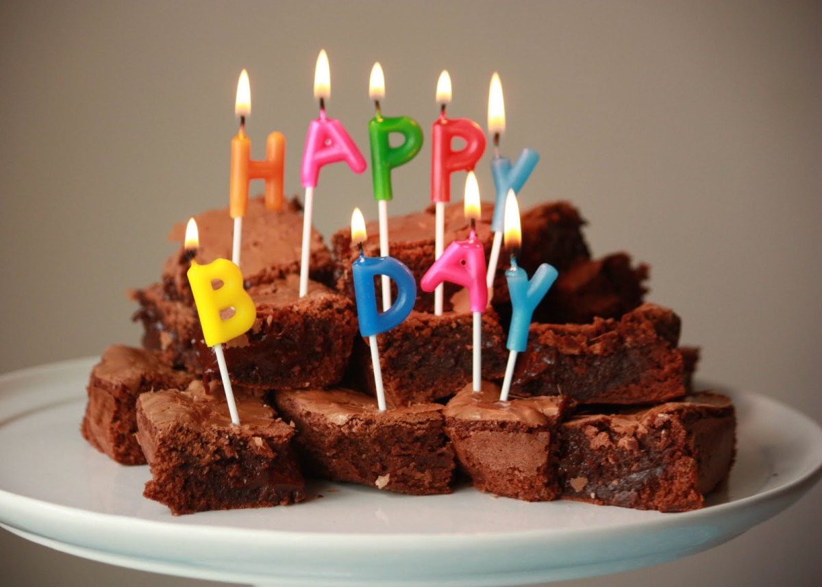 Fine Brownie Birthday Cake With Milk Flour Birthday Brownies Birijus Com Personalised Birthday Cards Paralily Jamesorg