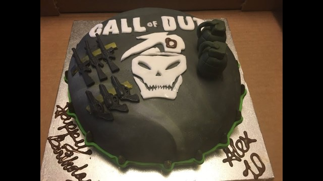Call Of Duty Birthday Cake S3 Call Of Duty Birthday Cake Bnh Sinh Nht Ep 33
