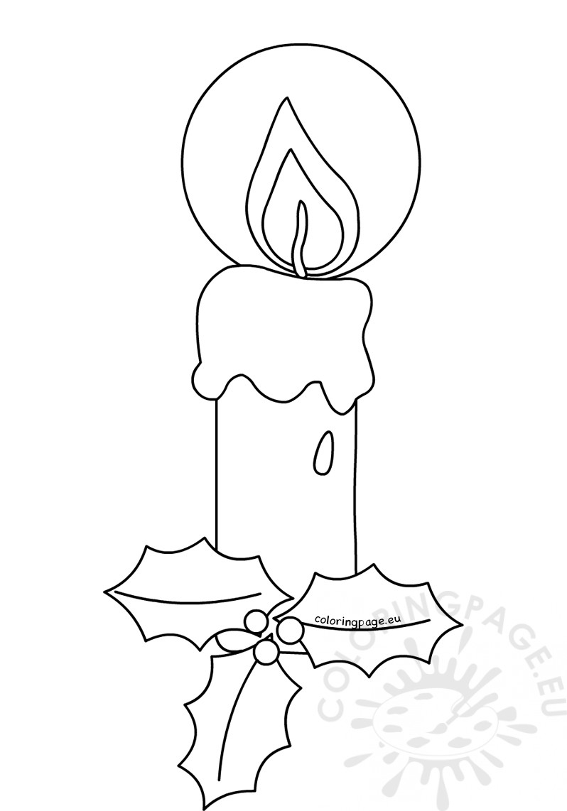 Candle Coloring Page Candle Coloring Pages For Christmas