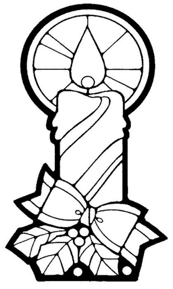 Candle Coloring Page Christmas Candle Coloring Page With Free Pages Seimado Birijus Com