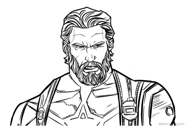Captain America Coloring Page Spiderman Iron Man Deadpool Captain America  Wolverine Coloring Pages - birijus.com | 436x640