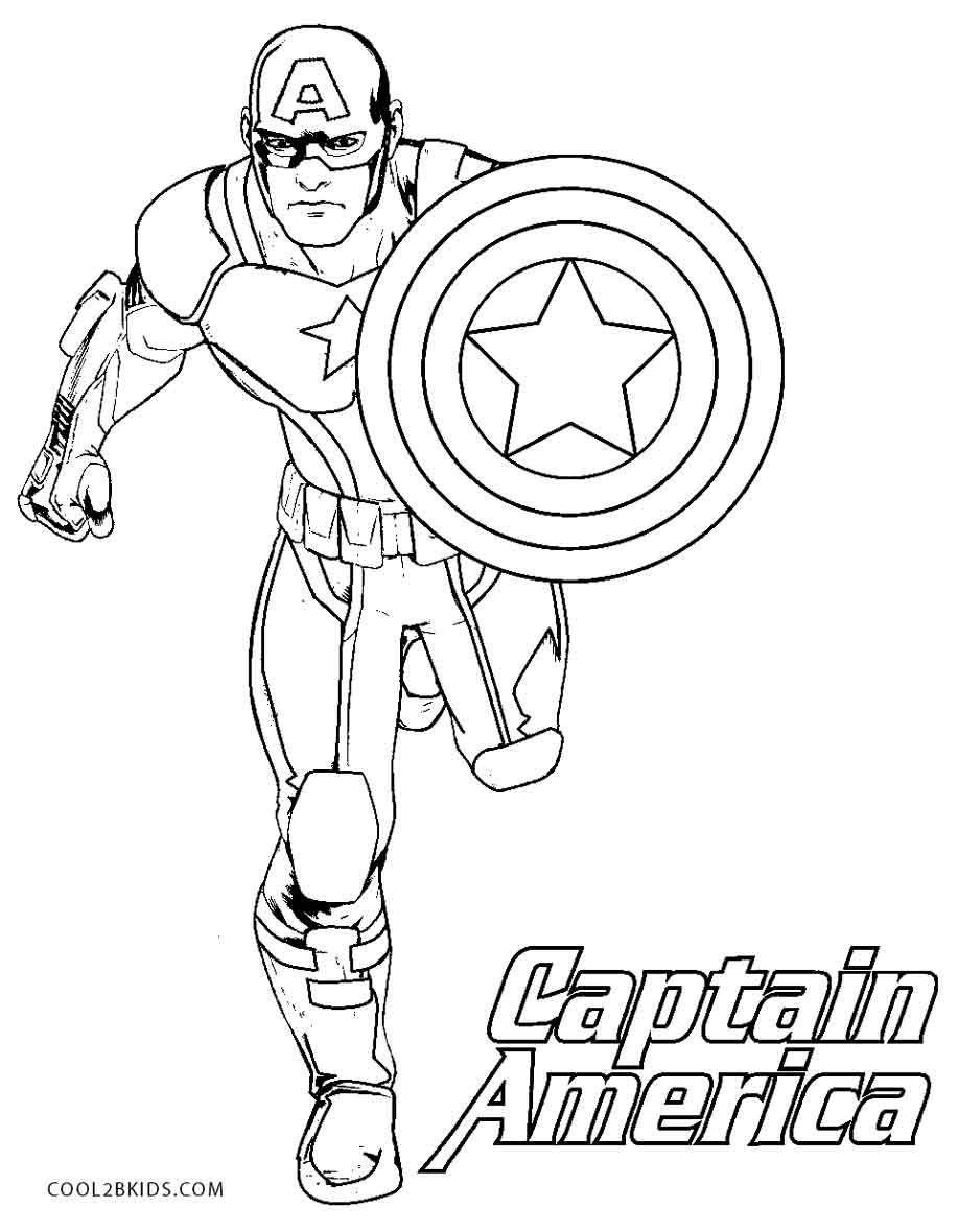 25 Wonderful Photo Of Captain America Coloring Page