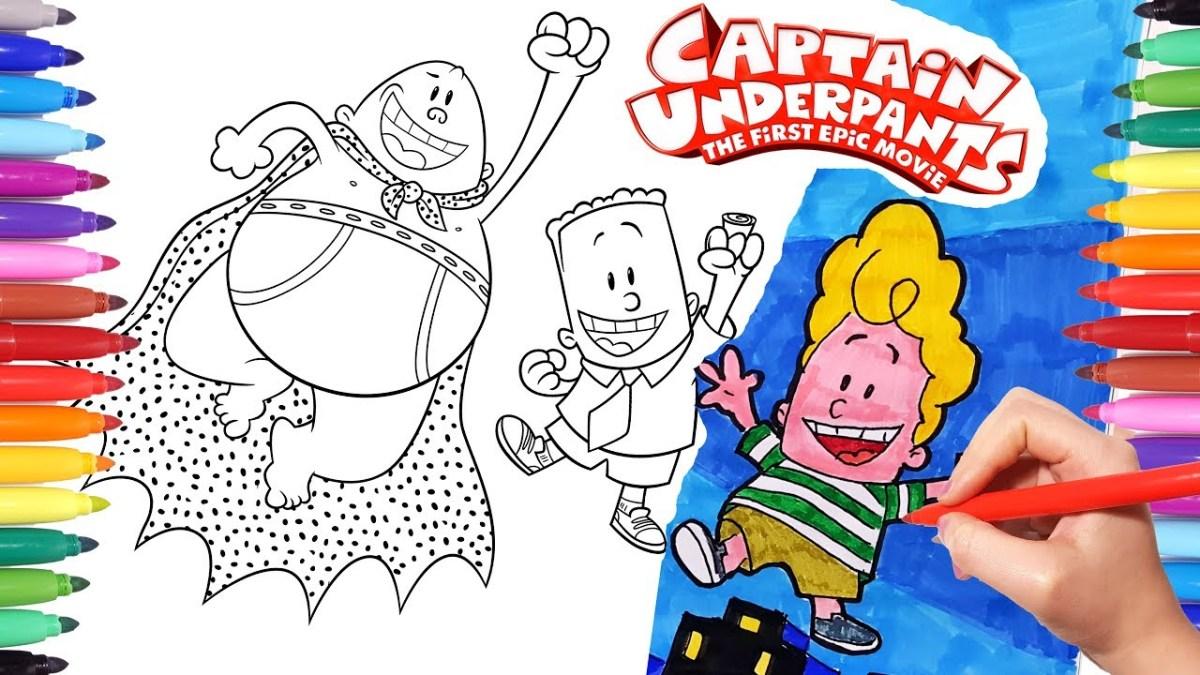 Captain Underpants Coloring Pages Captain Underpants Epic Movie Coloring Pages How To Draw Captain