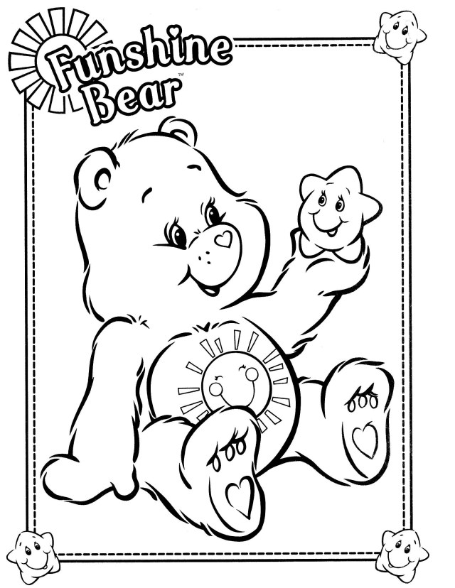 Care Bear Coloring Pages Care Bears Coloring Page Colouring Pages Pinterest Bear Best