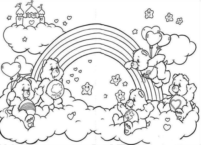 Care Bear Coloring Pages Care Bears Coloring Pages Bear Babbleedition Info 1240900
