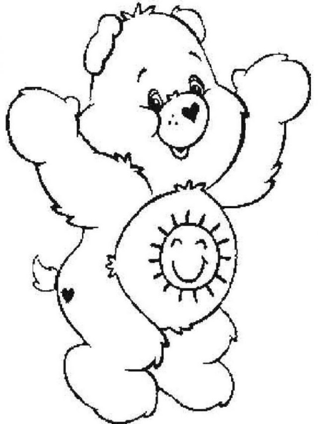 Care Bear Coloring Pages Remarkable Rainbow Care Bear Coloring Page Free Printable Pages For
