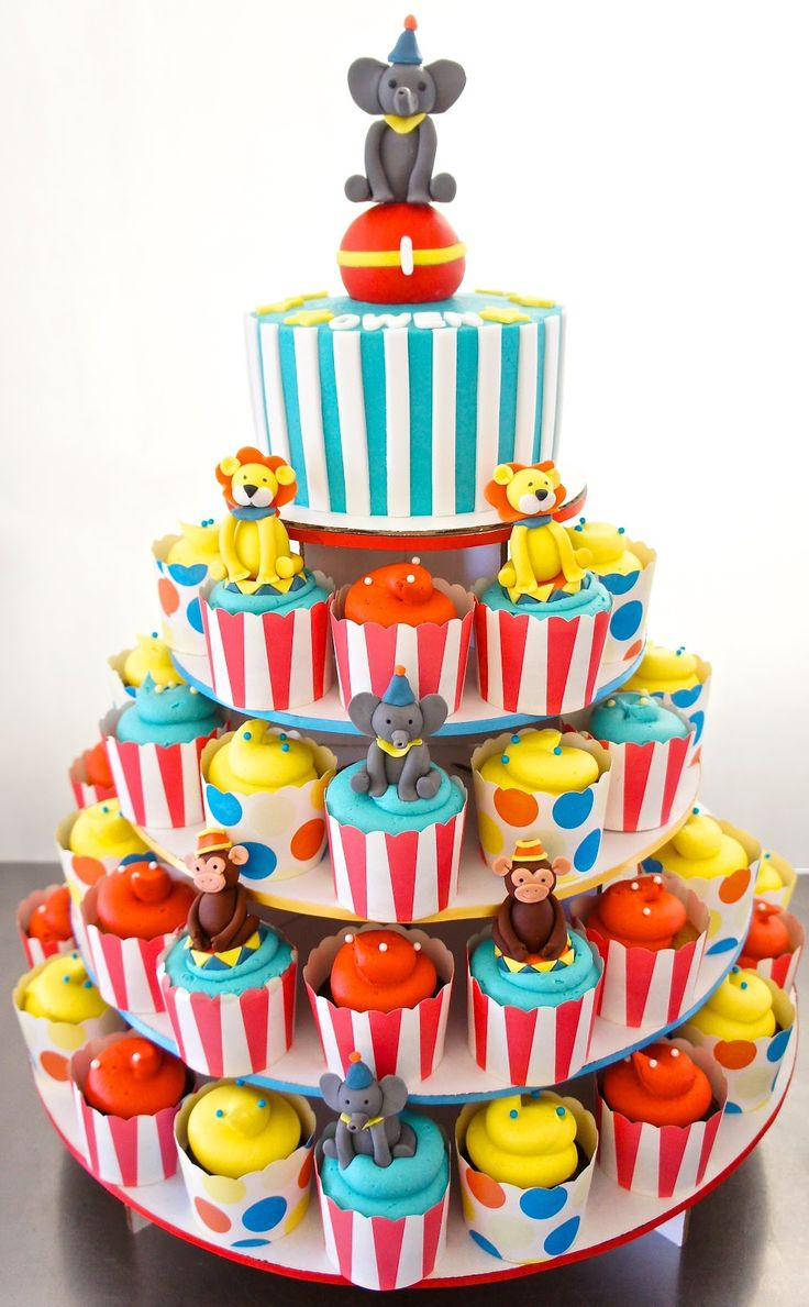 Astonishing Carnival Birthday Cake 11 Circus Birthday Cupcakes Photo Circus Personalised Birthday Cards Veneteletsinfo