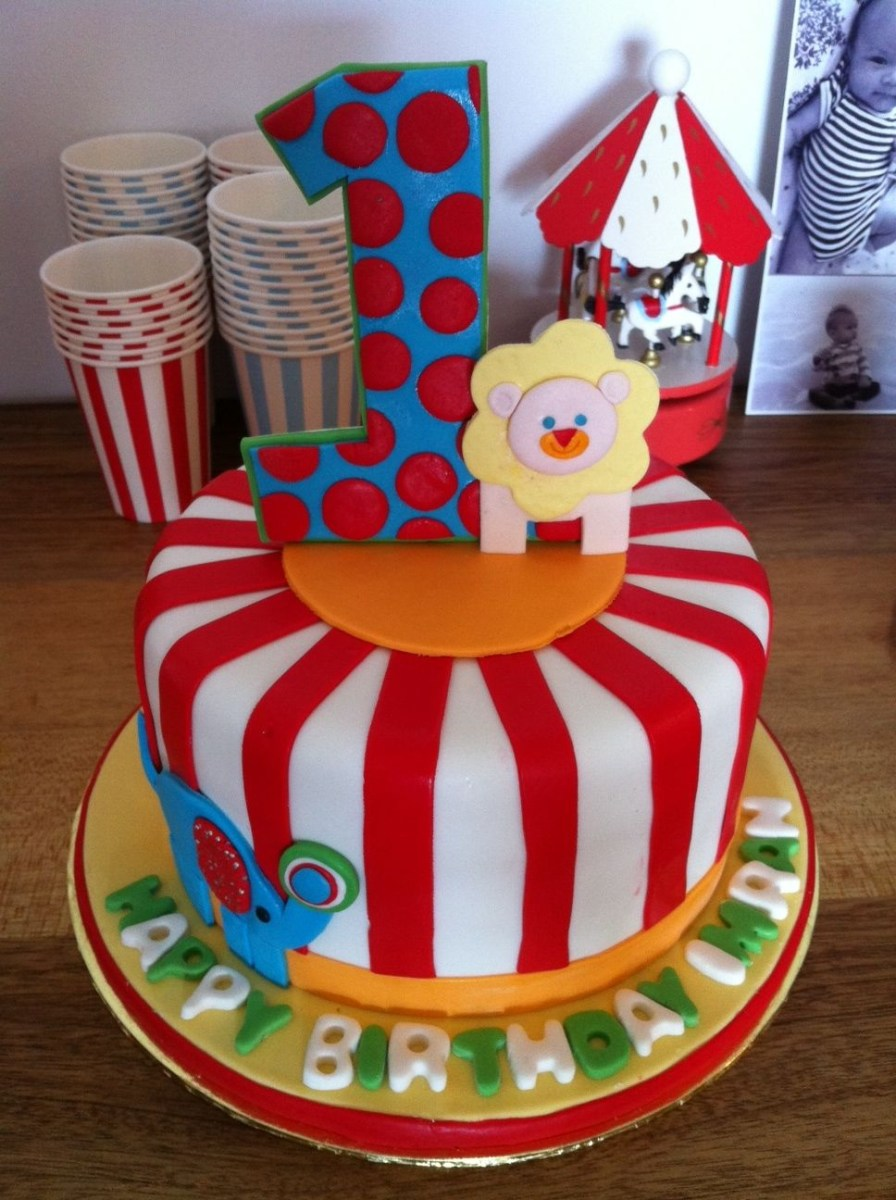 Carnival Birthday Cake Carnival Themed First Birthday Cake Imrans First Birthday