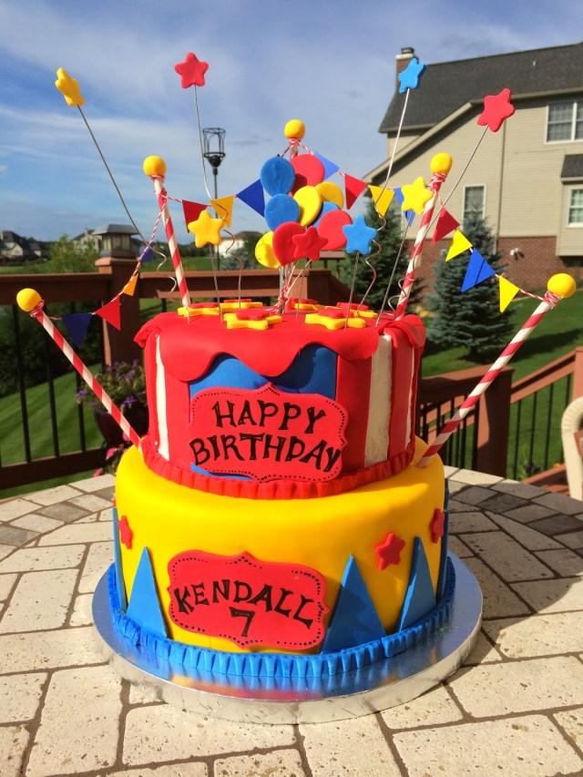 Carnival Birthday Cake Christis Cakes Kendalls Carnival Birthday Cake