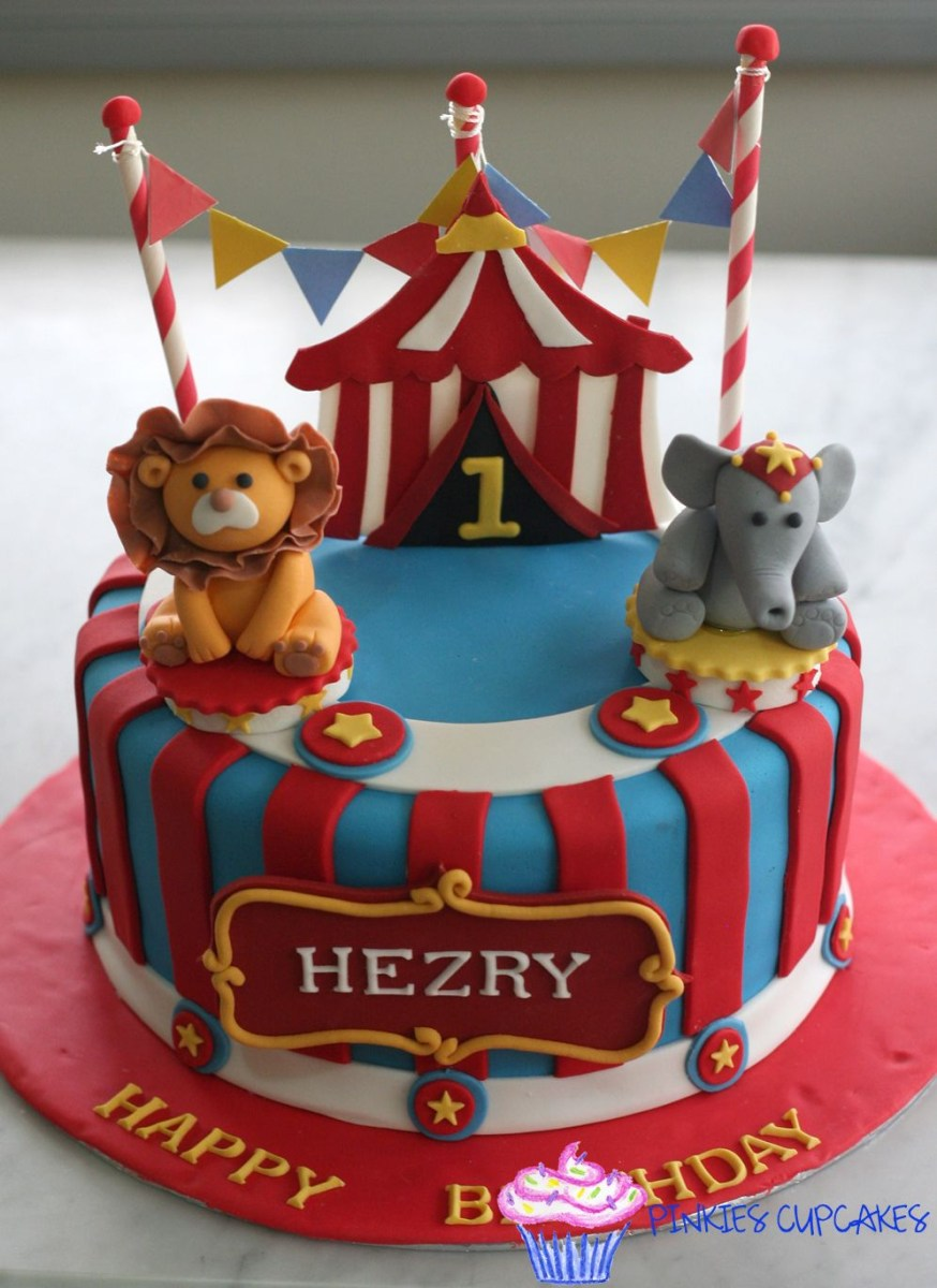 Remarkable Carnival Birthday Cake Circus Cake Cakes Pinterest Birthday Circus Personalised Birthday Cards Bromeletsinfo