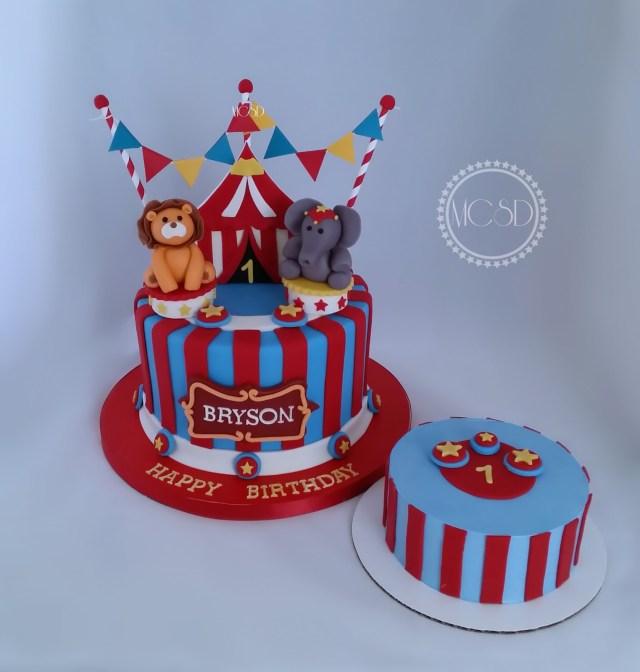 Carnival Birthday Cake Mycakesweetdreams Carnival Circus 1st Birthday Cake Cake Pops