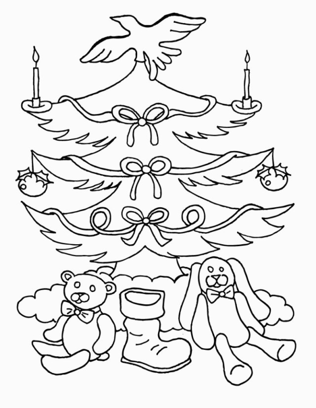 Christmas Tree Coloring Page Free Free Printable Christmas Tree Coloring Pages For Kids For Free