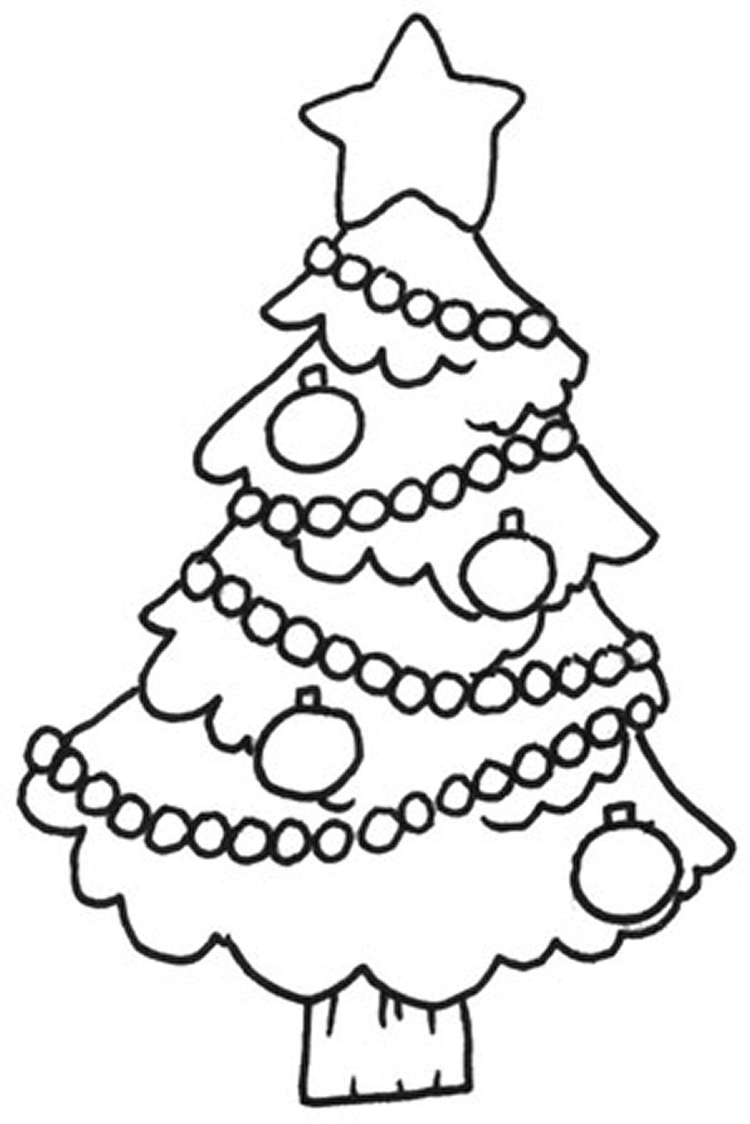 This is a picture of Printable Christmas Tree Coloring Pages in downloadable