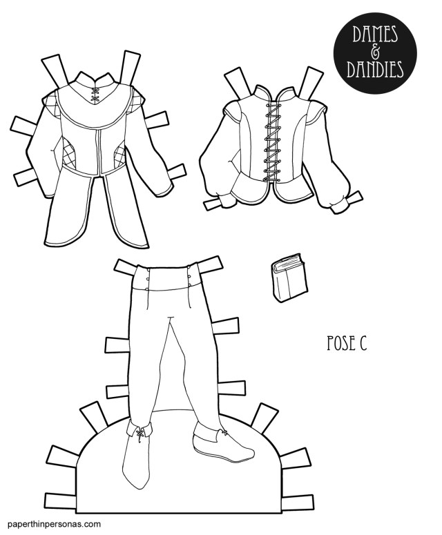 Clothes Coloring Pages A Coloring Page Printable Mens Fantasy Paper Doll Clothing