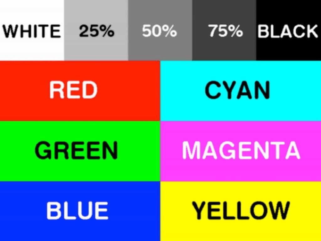 Color Printer Test Page Canon Color Printer Test Page