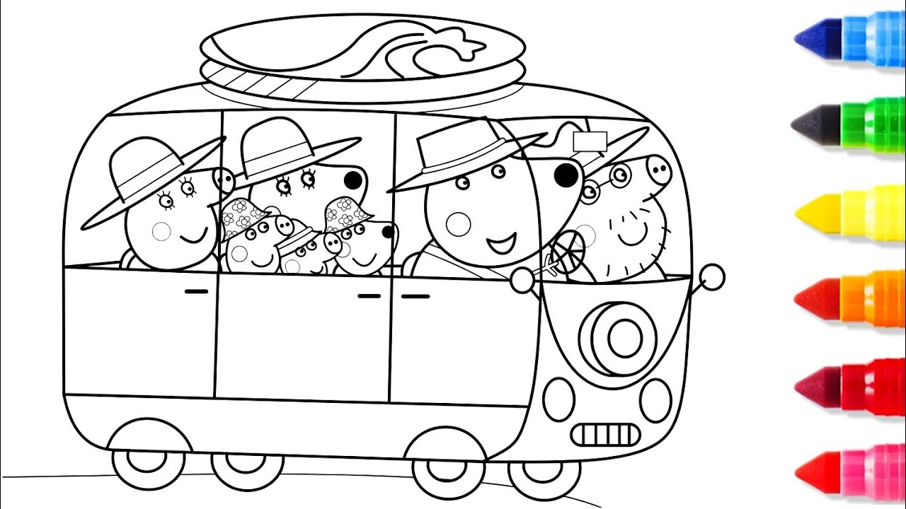 - Coloring Pages Cars Peppa Pig Driving A Car Coloring Pages Peppa
