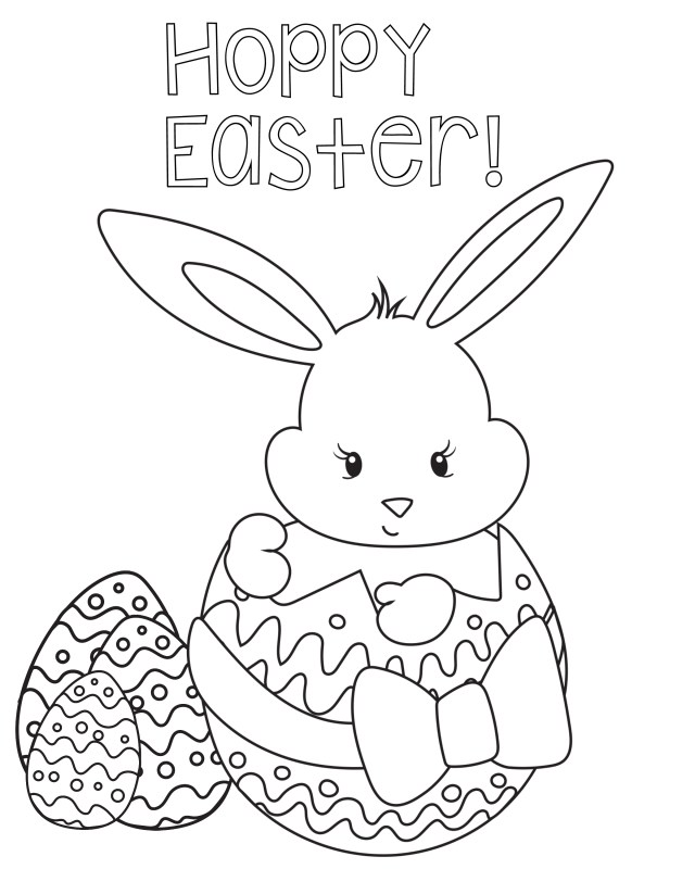 Coloring Pages For Kids Easter Coloring Pages For Kids Crazy Little Projects
