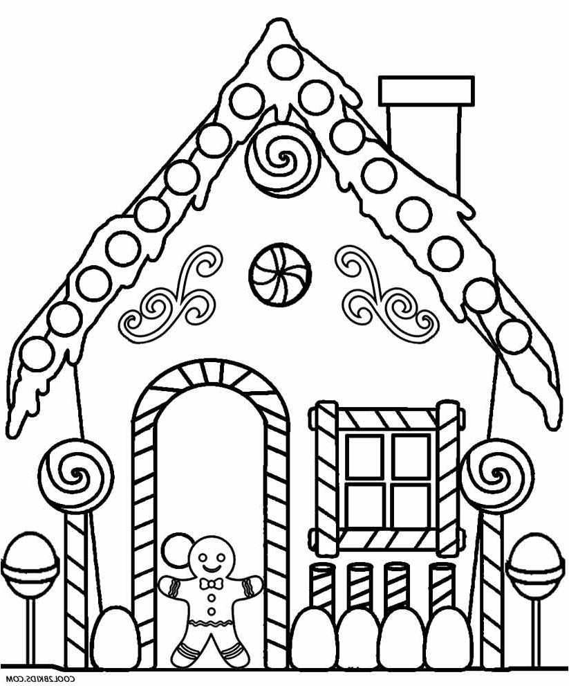 Cool Coloring Pages Gingerbread House Coloring Pages Elegant Color