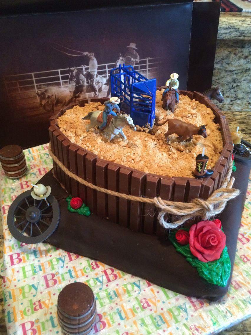 Swell Cowboy Birthday Cake Rodeo Cake 1 Jen Kotas Craft Ideas Cake Rodeo Funny Birthday Cards Online Inifodamsfinfo
