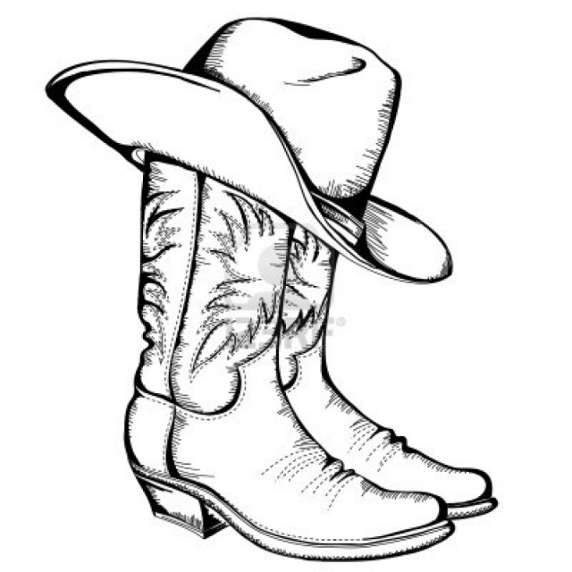 Cowboy Boot Coloring Page Boots Coloring Pages To Print Color Bros 10241024 Attachments