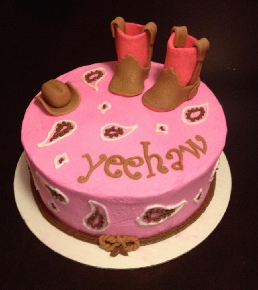 Excellent Cowgirl Birthday Cakes Cowgirl Birthday Cake Cakecentral Birijus Com Funny Birthday Cards Online Alyptdamsfinfo