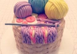 Crochet Birthday Cake Crochet Themed Cake My Sweet Life Pinterest Cake Themed Cakes