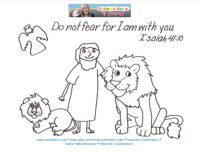 Daniel And The Lions Den Coloring Page Daniel And The Lions Den Bible Memory Verse Coloring Page Online