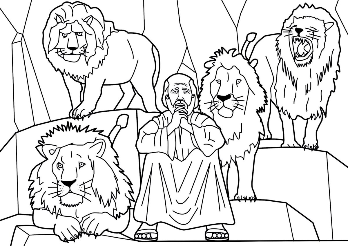 Daniel And The Lions Den Coloring Page Daniel And The Lions Den Coloring Page Inspirational Daniel And The