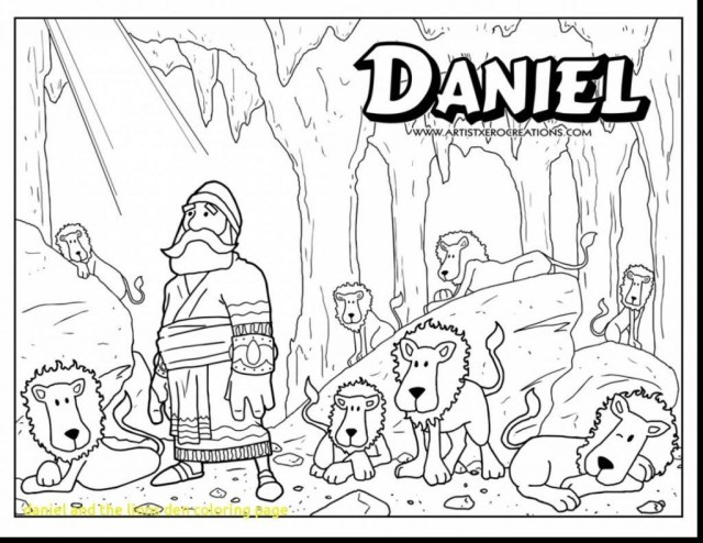 Daniel And The Lions Den Coloring Page Daniel And The Lions Den Coloring Sheet Unique Images Amazon Daniel