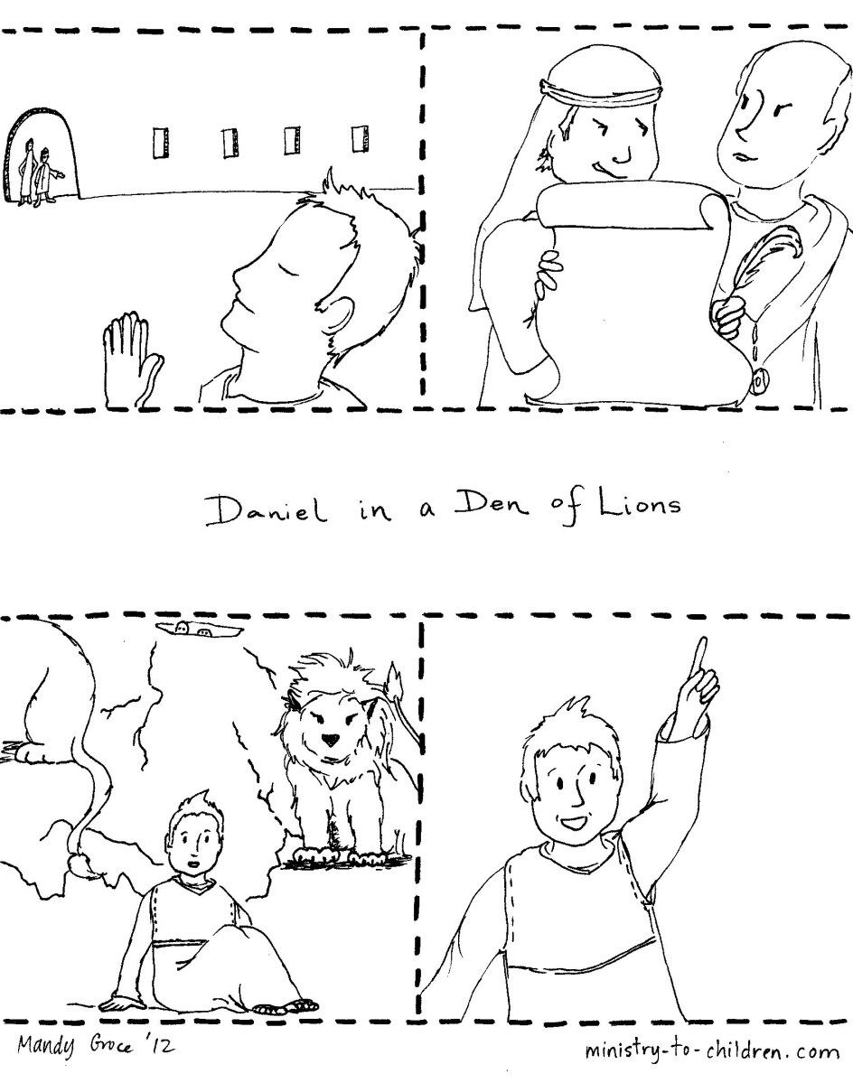 Daniel And The Lions Den Coloring Page Daniel In The Lions Den Coloring Page Part 3 Free Resource For