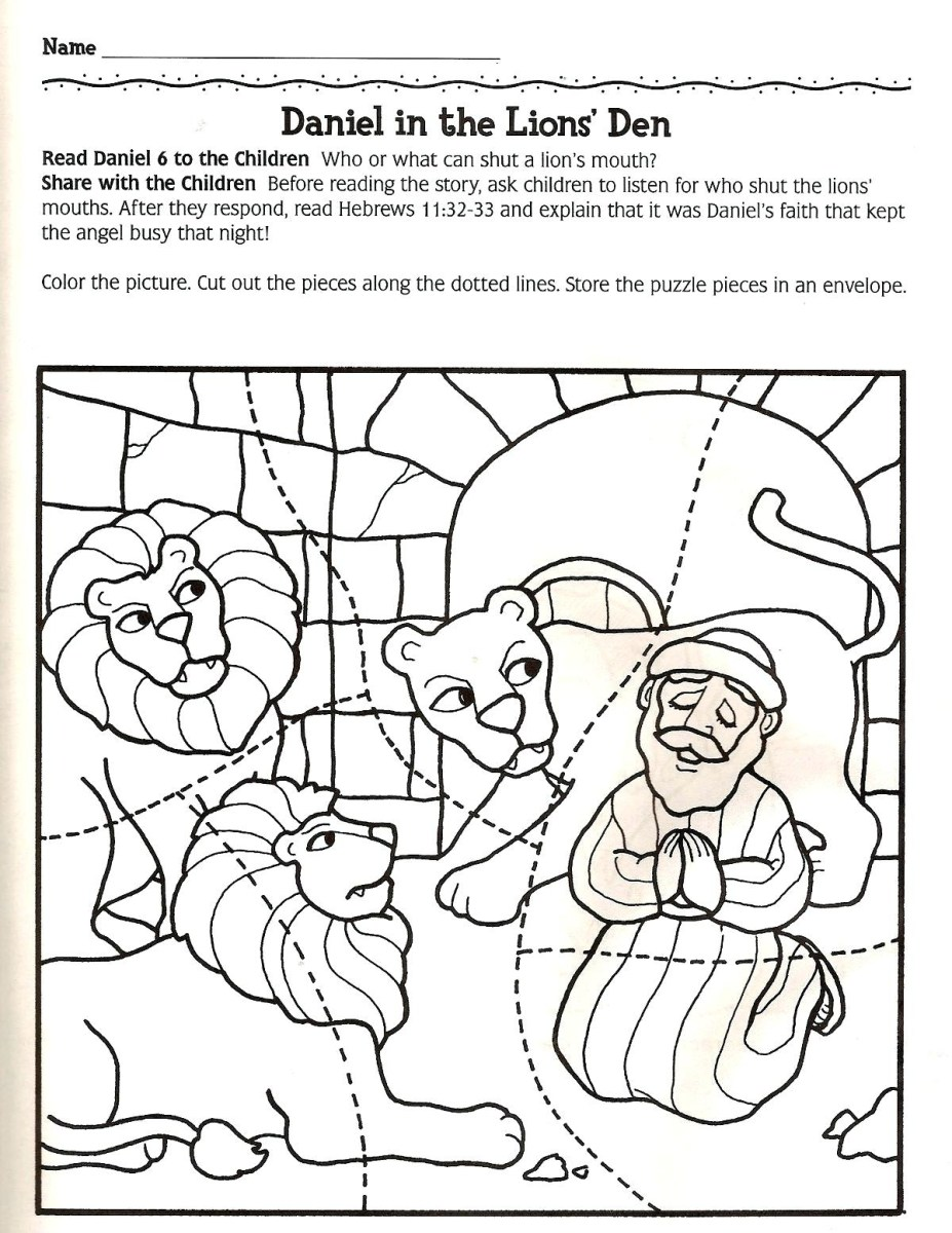 Daniel And The Lions Den Coloring Page Unlock Daniel In The Lion S Den Coloring Page Collection Of Free