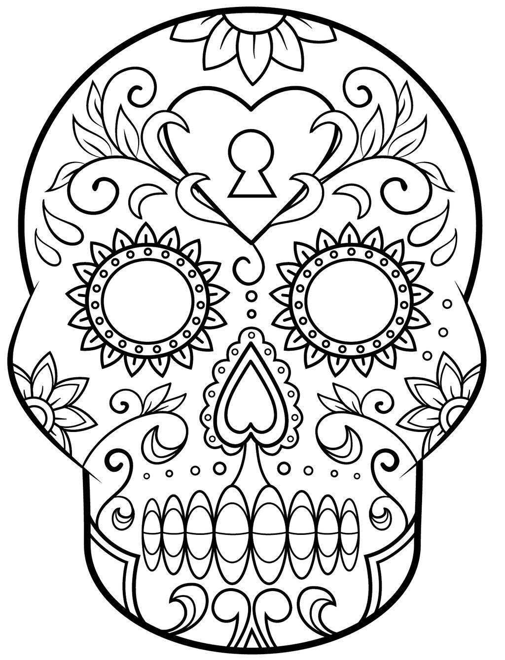 - Day Of The Dead Coloring Pages Skulls Coloring Pages Day Dead