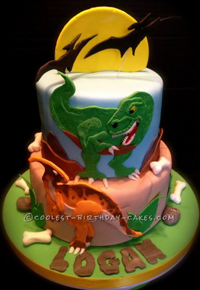 Dinosaur Birthday Cake Coolest Dino Mite Dinosaur Birthday Cake