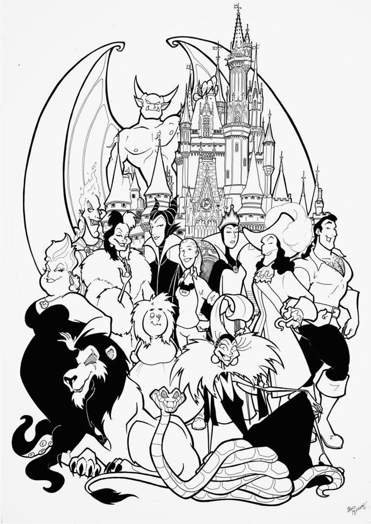 image about Printable Disney Characters identified as 25+ Terrific Picture of Disney Temperament Coloring Web pages
