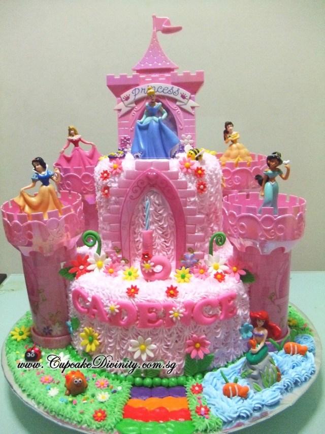 Disney Princess Birthday Cakes Cupcake Divinity Maxi 2 Tier Disney Princess Cadence In Castle