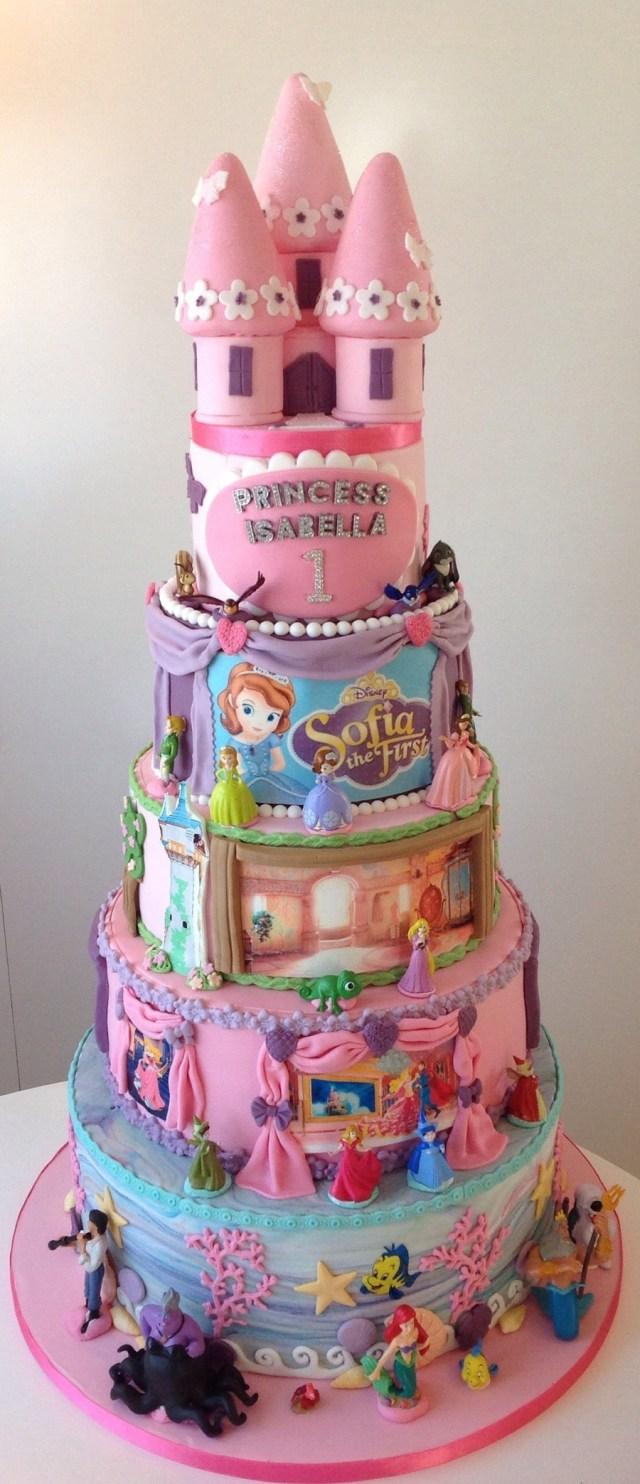 Disney Princess Birthday Cakes Disney Princess 1st Birthday Cake Cakecentral