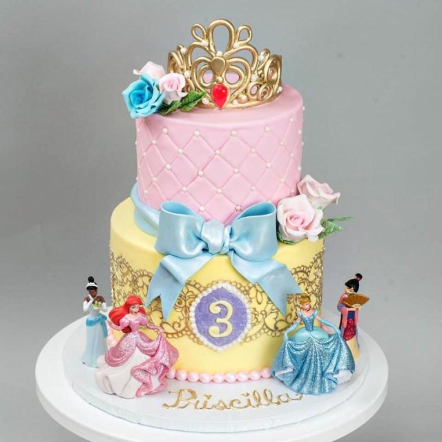 Disney Princess Birthday Cakes Kids Birthday Blue Lace Cakes
