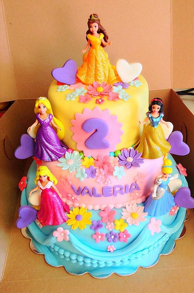 Disney Princess Birthday Cakes Valerias Disney Princess Cake Icing Sugar Dust Princess