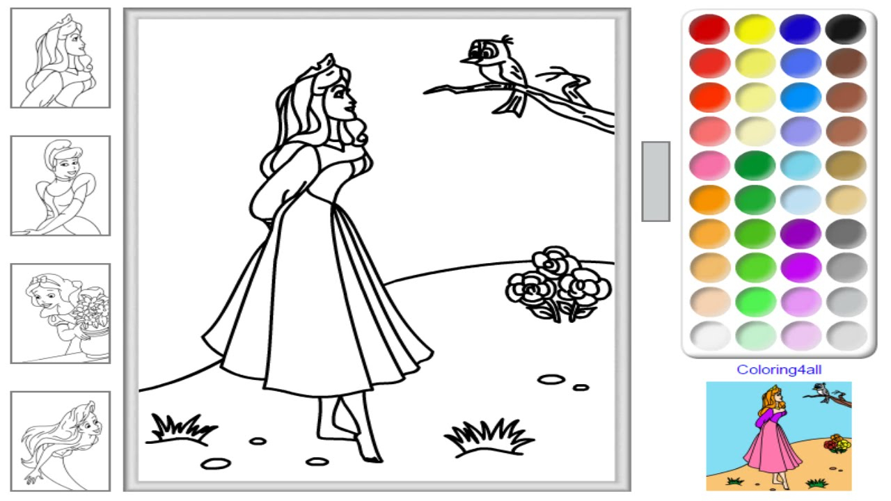 - Disney Princess Coloring Page Free Disney Princess Online Coloring