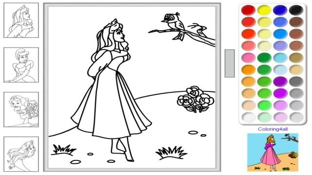 Disney Princess Coloring Page Free Disney Princess Online Coloring Pages Disney Princess
