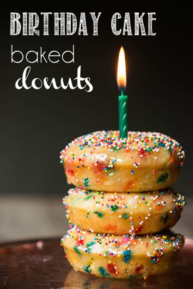 Donut Birthday Cake Birthday Cake Baked Donuts Recipe Video Self Proclaimed Foodie