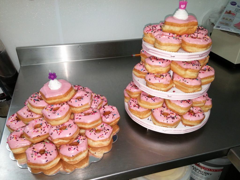 Awesome Donut Birthday Cake Donuts The Perfect Treat For A Birthday Funny Birthday Cards Online Alyptdamsfinfo