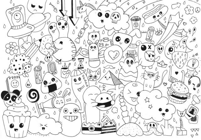 25+ Excellent Picture of Doodle Coloring Pages - birijus.com