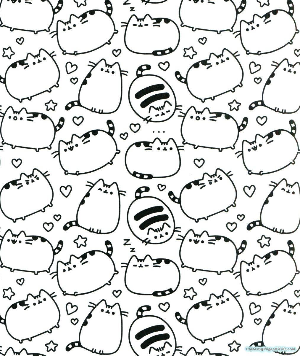Doodle Coloring Pages Pusheen Coloring Pages Thanksgiving