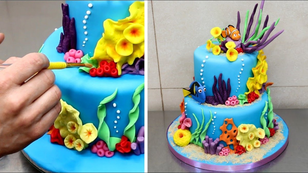 Remarkable Dory Birthday Cake Finding Nemo Cake How To Make Cakesstepstep Funny Birthday Cards Online Inifodamsfinfo