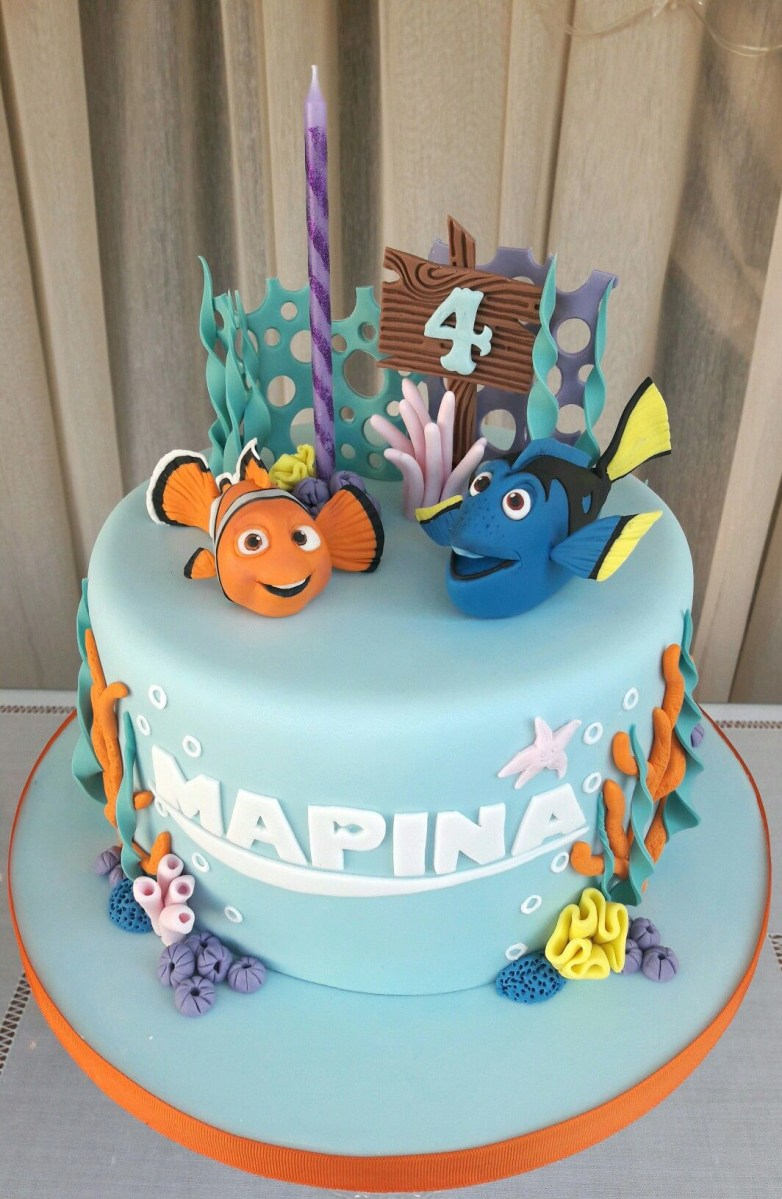 Fantastic Dory Birthday Cake Nemo And Dory Cake My Cakescookies Pinterest Funny Birthday Cards Online Elaedamsfinfo