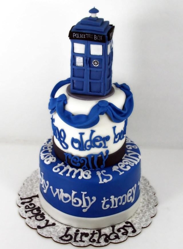Dr Who Birthday Cake 8 Doctor B Day Cakes Photo