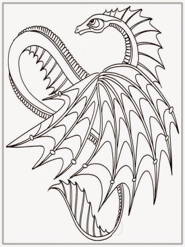 Dragon Coloring Pages For Adults Dragon Coloring Pages For Adults Chinese Adult Realistic L To Print